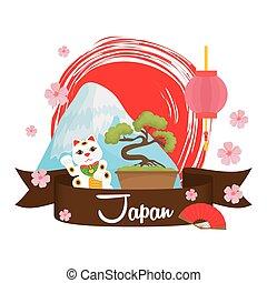 Japan design. Culture icon. Flat illustration