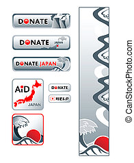 japan, donation, bannere