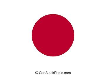 japan., drapeau, vecteur, eps10, illustration
