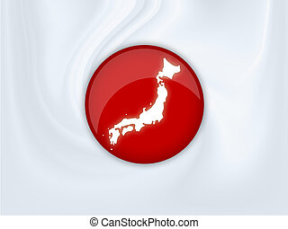 Japan - Illustration of a japan flag