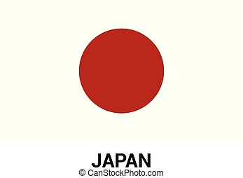 Japan flag design vector