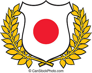 japan flag emblem
