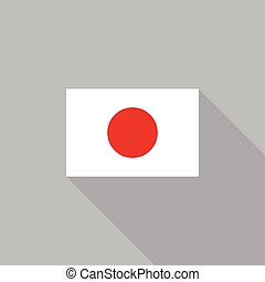 Japan flag flat design vector illustration