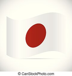 Japan Flag Illustration