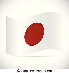 Japan Flag Illustration