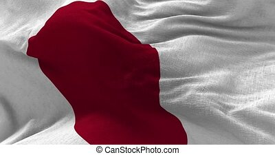 Japan Flag in the Wind