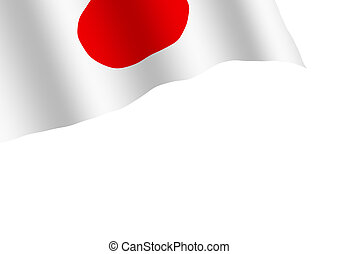 Japan flag isolated on white background