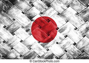 Japan flag , Japan flag on Weave Bamboo