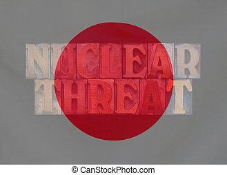 Japan flag nuclear threat