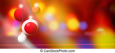 Japan flag on Christmas ball with blurred and abstract background.
