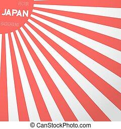 Japan Flag Vector Background