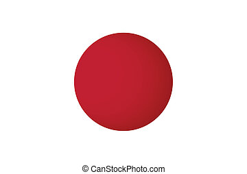 Japan Flag. Vector illustration.