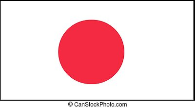 Japan flag vector illustration isolated on background
