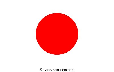 Japan flag vector illustration