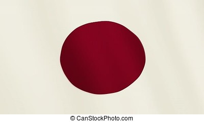 Japan flag waving animation. Full Screen. Symbol of the country.