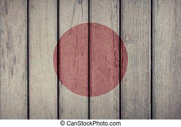 Japan Flag Wooden Fence