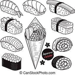 japan food doodle set1