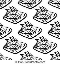 Japan food seamless pattern