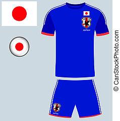 Japan Football Jersey - Abstract vector image of the...