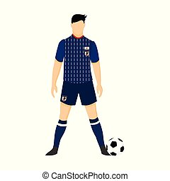 Japan Football Jersey National Team World Cup Illustration
