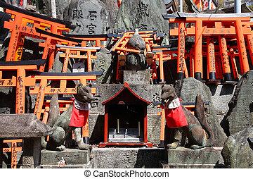 Japan - Fushimi Inari - Fushimi Inari Taisha shrine in Kyoto...