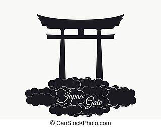 Japan gate. Torii gate. Japan.