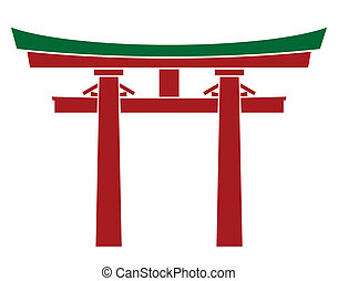 japan, grind, -, torii