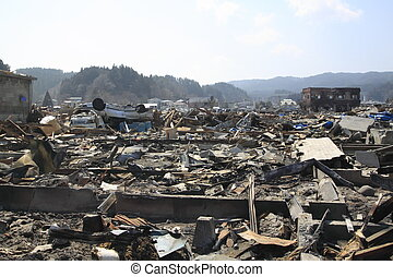 japan, groß, osten, erdbeben