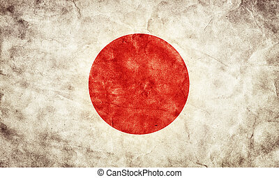 Japan grunge flag. Item from my vintage, retro flags collection