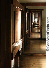 japan, himeji, korridor, hofburg