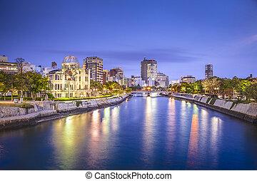 japan, hiroshima, skyline, stadt