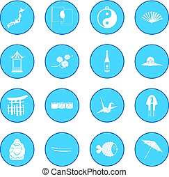 Japan icon blue - Japan simple icon blue isolated vector...