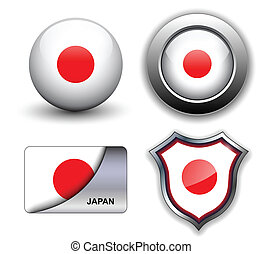 Japan icons - Japan flag icons theme.
