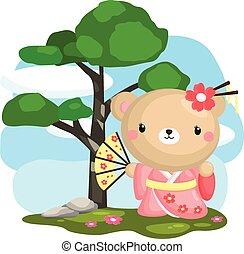 japan kimono bear