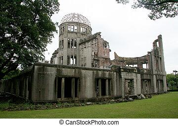 japan, kuppel, ein-bombe, hiroshima