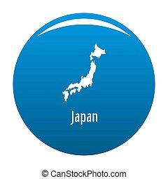 Japan map in black simple