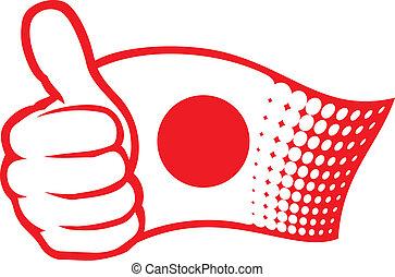 japan markierungsfahne