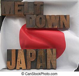 Japan meltdown words Japan, flag, me