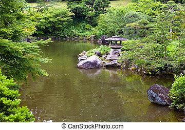 Japan. Narita. The lake in park