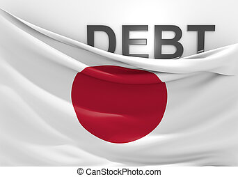 Japan national debt and budget deficit financial crisis.