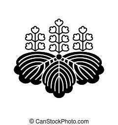 Japan national lily of the valley flower emblem symbol