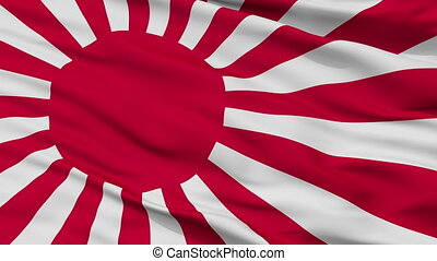 Japan Naval Ensign Flag Closeup Seamless Loop - Naval Ensign...
