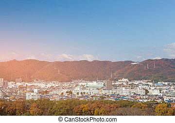 Japan Osaka residence over mountain