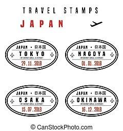 Japan passport stamps