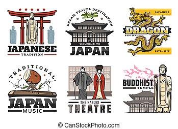 japan, rejse, kultur, landemærker, traditioner