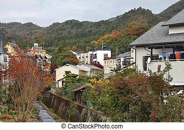 Japan residential neighborhood