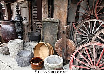 Japan - rural tool shop in Takayama, famous old town. Gifu prefecture.