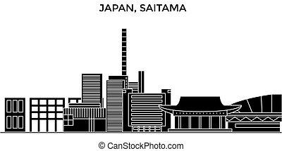 Japan, Saitama architecture vector city skyline, travel...