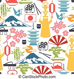 Japan seamless pattern.