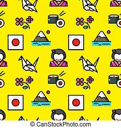 Japan seamless pattern vector illustration